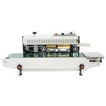 Machine de thermoscellage de sac en plastique de papier daluminium de PVC de polythène de scelleur continu automatique de largeur de 500W 5-12mm 0-12 m/min FR900