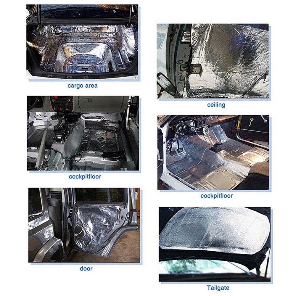 12 Uds 5mm Auto coche calor sonido Deadener reductor aislamiento Underlay Mat Pads Set