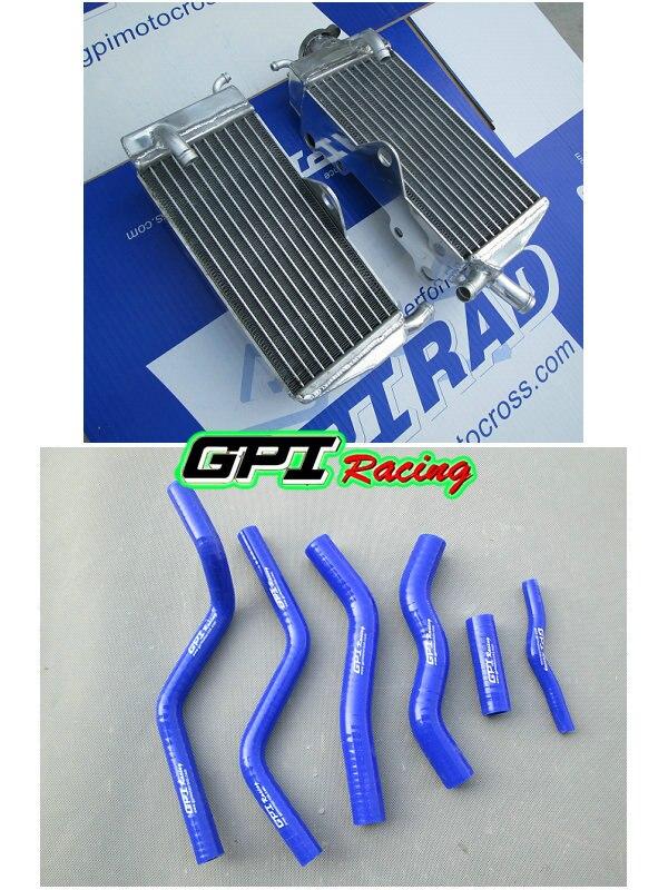 Radiador de aluminio y manguera para HONDA CR125R/CR125 1990-1997 91 92 93 94 95 96