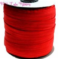 "5/8 ""16mm color sólido matt fold sobre cinta elástica rojo foe lazos de pelo arcos regalo wrap decoración manualidades 50 yardas"