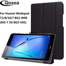 Qosea luxe PU cuir pour Huawei Mediapad T3 8.0 support intelligent étui pour Huawei Mediapad T3 8 10 7 BG2-W09 couverture de béquille de tablette