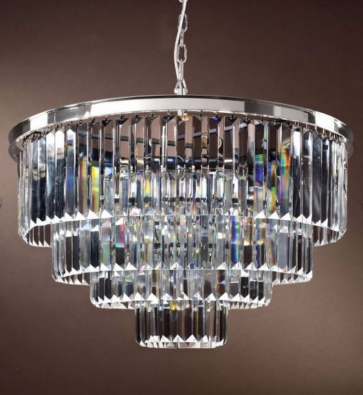40cm 4layer k9 Crystal Pendant circular Electroplate polishing luxury Chandeliers Nordic simplicity Crystal bar light 110-240V  - buy with discount
