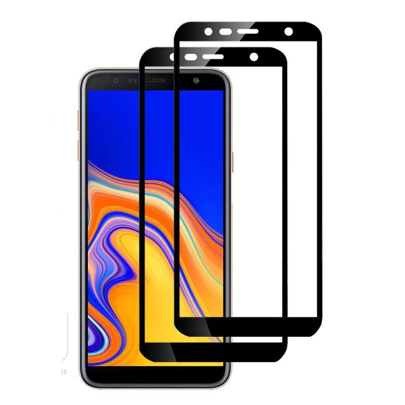 2 protectores de pantalla de cristal templado para samsung galaxy J4 Plus 9h para samsung galaxy J6 plus SM-J610FN