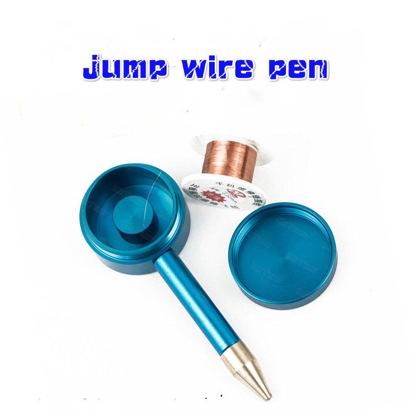 Aislamiento de la pluma de alambre de la pluma del teléfono de la placa base de la huella digital del hilo de vuelo de la pluma con la línea de mosca de 0,02mm para la reparación y soldadura del teléfono móvil
