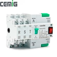 ats dual power automatic transfer switch smgq2 633p circuit breaker pc grade 63a household 35mm rail installation