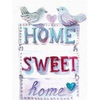 Peinture diamant theme  Home Sweet   broderie complete 5d  dessin anime  image carree ou ronde  strass  decoration dinterieur