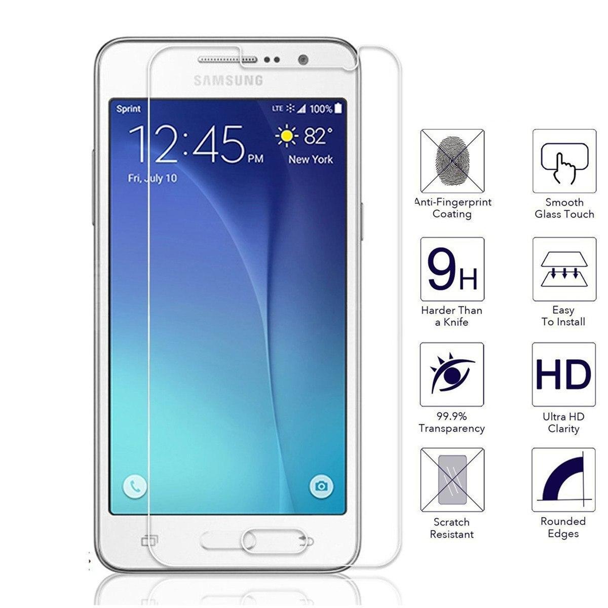 Vidrio templado de protector de pantalla Premium para Samsung Galaxy J1 J3 J5 J7 2016 A5 S3 S4 S5 NEO S6 Grand Prime G531 película protectora
