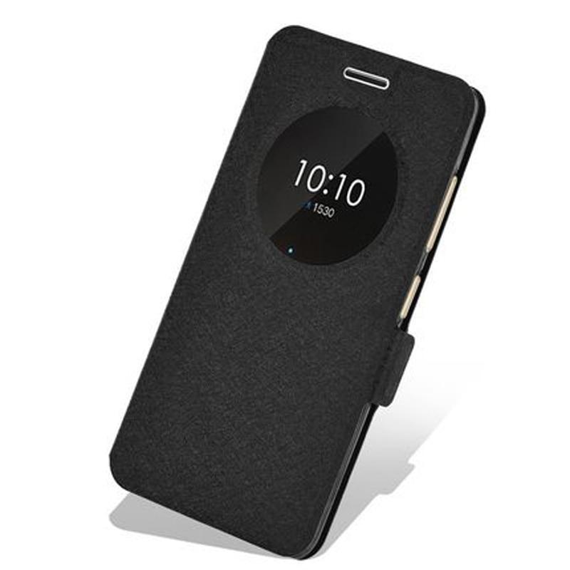 Para Lenovo ZUK Edge Z 2151 funda para teléfono funda abatible con soporte para ZUK Z2151 funda trasera de cuero ZUKEdge la cáscara de la caja del teléfono