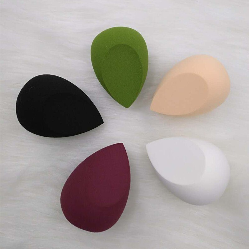 1 unid forma de gota de agua Puff cosmético maquillaje esponja mezcla cara base crema mezcla cosmética polvo Puff