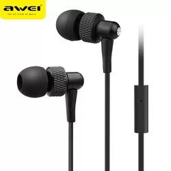 Awei es 390i no ouvido-fones de ouvido com microfone cancelamento de ruído para android ios