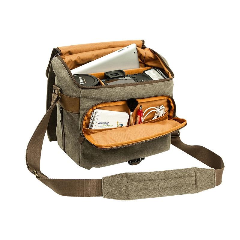 Bolso de lona impermeable para fotos Loveps, mochila para foto de cámara grande resistente al desgaste para exteriores para hombre nikon/canon/sons/Fuji film60D 700D
