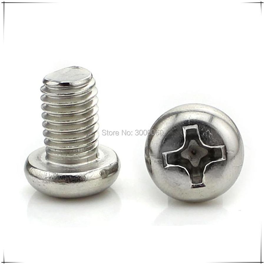 Купить с кэшбэком M1.0 M1.2 M1.4 M1.6 Stainless Steel 304 A2 Micro Small Corss Recessed Phillips Round Pan Head Screws 1000pcs/lot