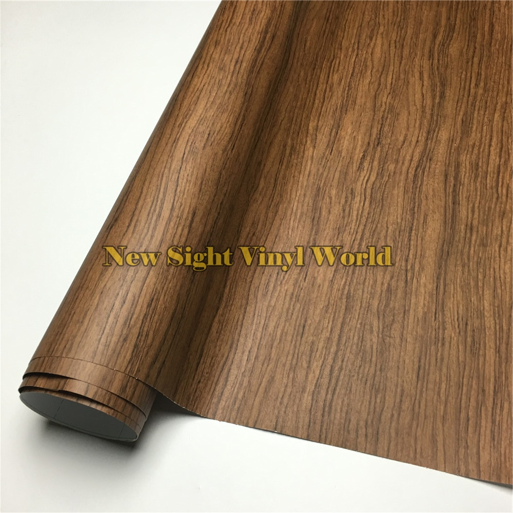 Lámina de vinilo texturizada de madera de palisandro, pegatina de PVC para muebles de piso, tamaño del intercomunicador de coche 1.24X5 0 m/rollo (4ft X 165ft)
