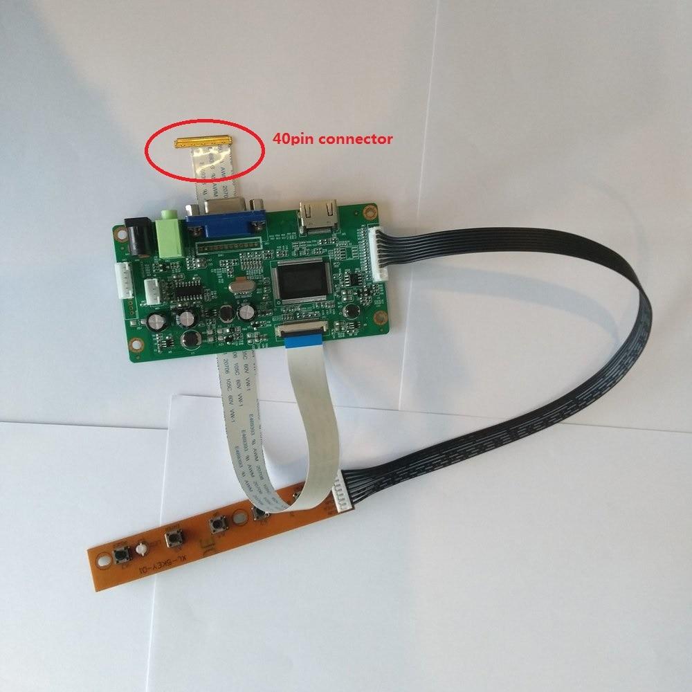 "HDMI VGA EDP LCD Placa de controlador Kit Diy 40pin LED para NT156WHM-T00 1366*768 de 15,6 ""Panel de pantalla"