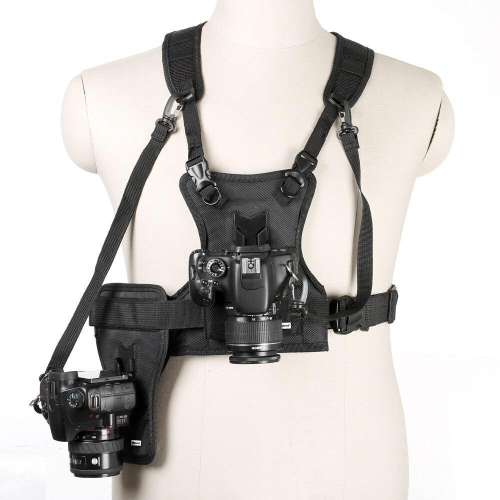 Multi soporte para cámara funda de arnés Sistema de Correa soporte para cámara Digital SLR