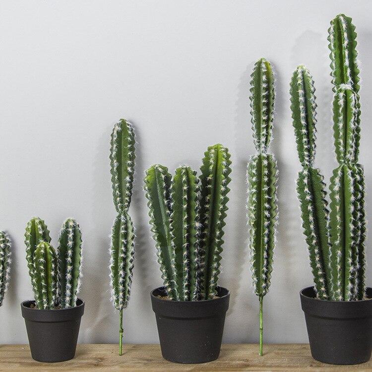 Flores artificiais verdes decoração de cacto, plantas vívidas, decoração de casamento, festa, quarto, escritório, suprimentos para festas, 1 peça