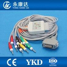 Fukuda Denshi FX-7102 câble délectrocardiogramme CardiMax FX-7101 FX-7202 FX-7402 FX-2111 FCP-2155 avec 10 câble ecg IEC Din 3.0