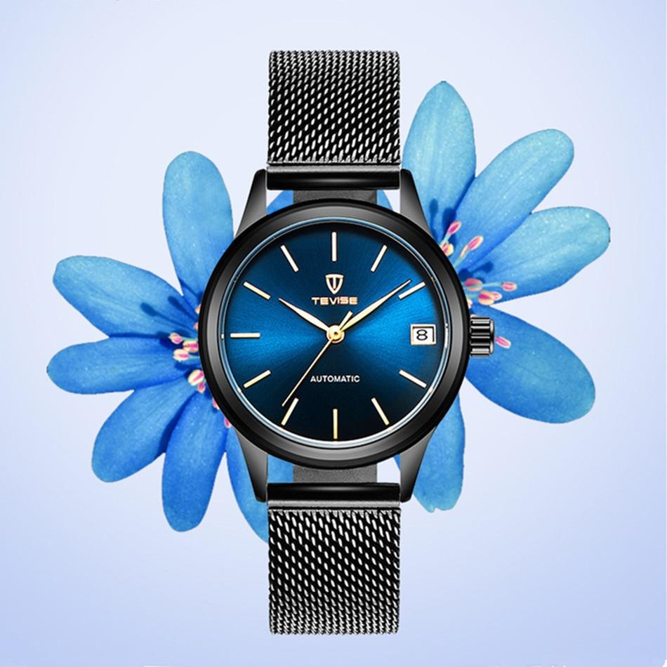 2020 TEVISE Women Watches Automatic Mechanical Bracelet Watch Ladies Waterproof Steel Dress Wrist Wa