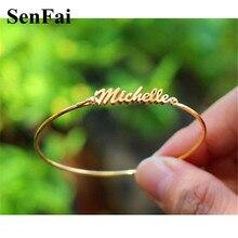 Мужские и женские браслеты Senfai, розовые, золотистые, серебристые, вечерние, ювелирные изделия