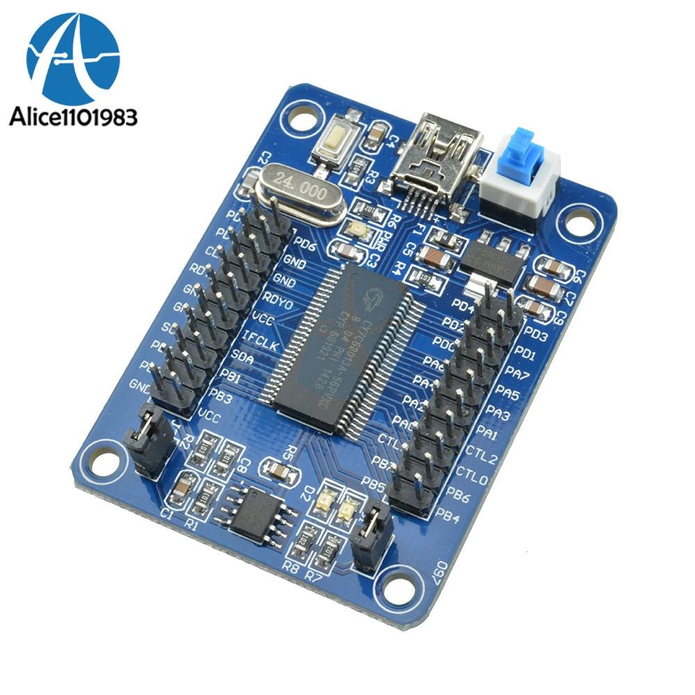 CY7C68013A EZ-USB FX2LP Módulo de placa de desarrollo USB Core Board analizador USB Logic con I2C Serial SPI interfaz de baja potencia