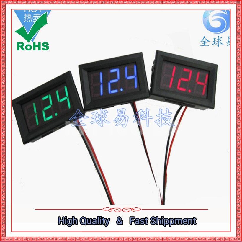 Cabeza del medidor de voltaje DC de segunda línea 0,56 pulgadas voltímetro digital LED DC4.5V-30.0V protección de polaridad inversa