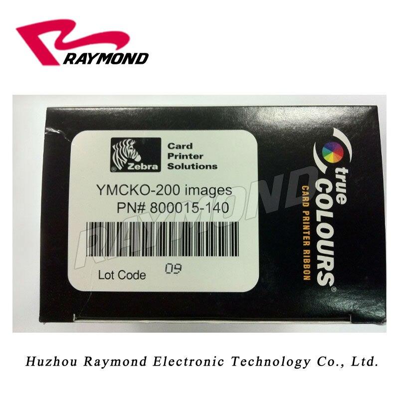 Original Zebra 800015-140 Ribbon - YMCKO color ribbon for all zebra id card printers