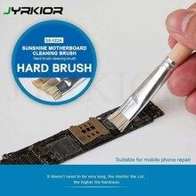 Jyrkior Mobile Phone Motherboard Welding Pad Clean Brush Hard Brush Stiff Brush For Solder Paste Welding Oil Flux Clean Tool