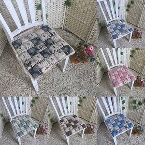 4 pçs antiderrapante laço floral do vintage em almofadas de assento cadeira almofada cadeira assento almofada para sala de jantar cozinha jardim 40*40*4cm