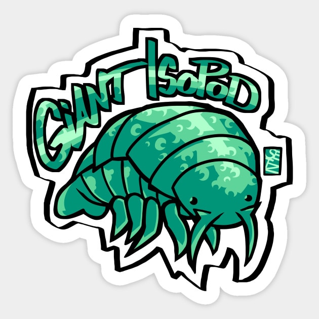 1 Uds pegatina Isopod gigante impermeable para coche Skateboard equipaje guitarra muebles pegatina