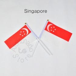 Singapura 14*21cm bandeira bandeira mão acenando bandeira nacional decoração para casa bandeira bandeira