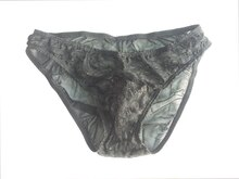 Transparent Gay Men's underwear Low Waist Lace Sexy U convex Mesh Mens Panties Underwear Solid Bikini Male Enhance Pouch Briefs