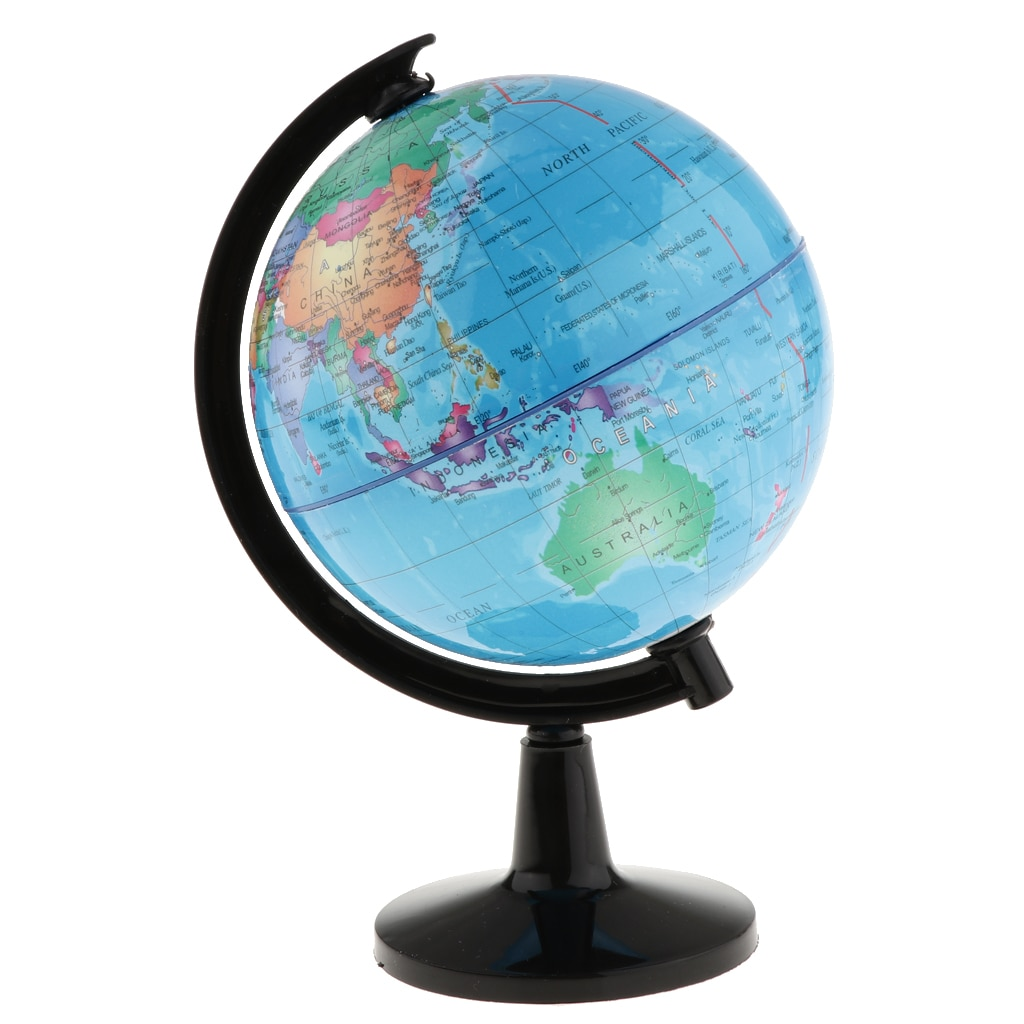 Rotary World Globe Model World Map Globe for School Classroom Teaching Aids Home Desk Decor