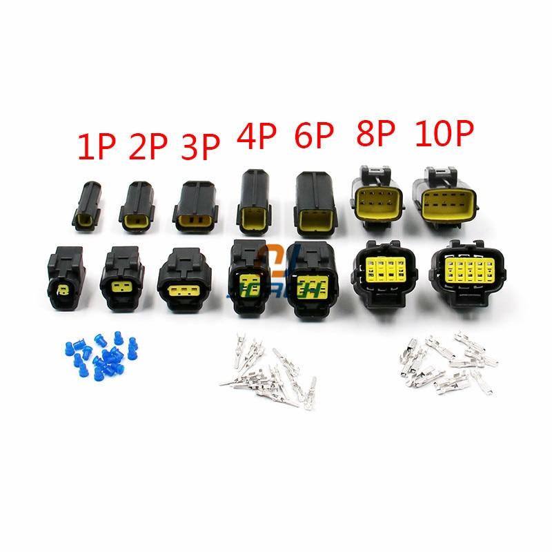 Envío gratis 1 set 1/2/3/4/6/8/10/12 clavijas conector de cable resistente al agua coche sellado automático conjunto eléctrico conectores para camiones