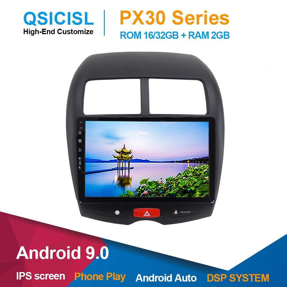 """Android 9,0 IPS 10,1 """"radio coche dvd reproductor multimedia para Mi tsubishi ASX 2010-2018 unidad de 1 din gps multimedia estéreo swc"""
