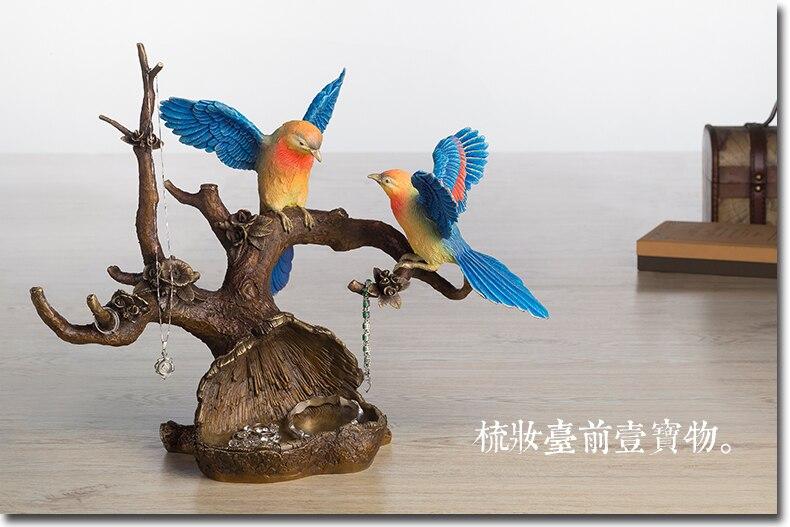 Arte superior único-oficina en casa la mejor decoración 3D vívida Urraca pájaro ciruela flor arte FENG SHUI estatua de bronce escultura-43 CM grande