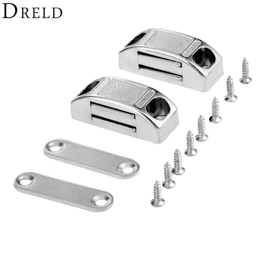 DRELD 2 stücke 42*17mm Magnetische Tür Fänge Schrank Schrank Magnet Kabinett Latch Fänge Stop Stopper Selbst- ausrichten Magnet