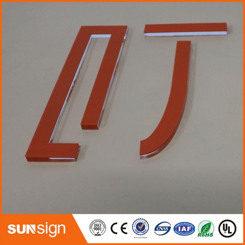 Sunsign design moderno transparente 3d acrílico letras de sinal para venda