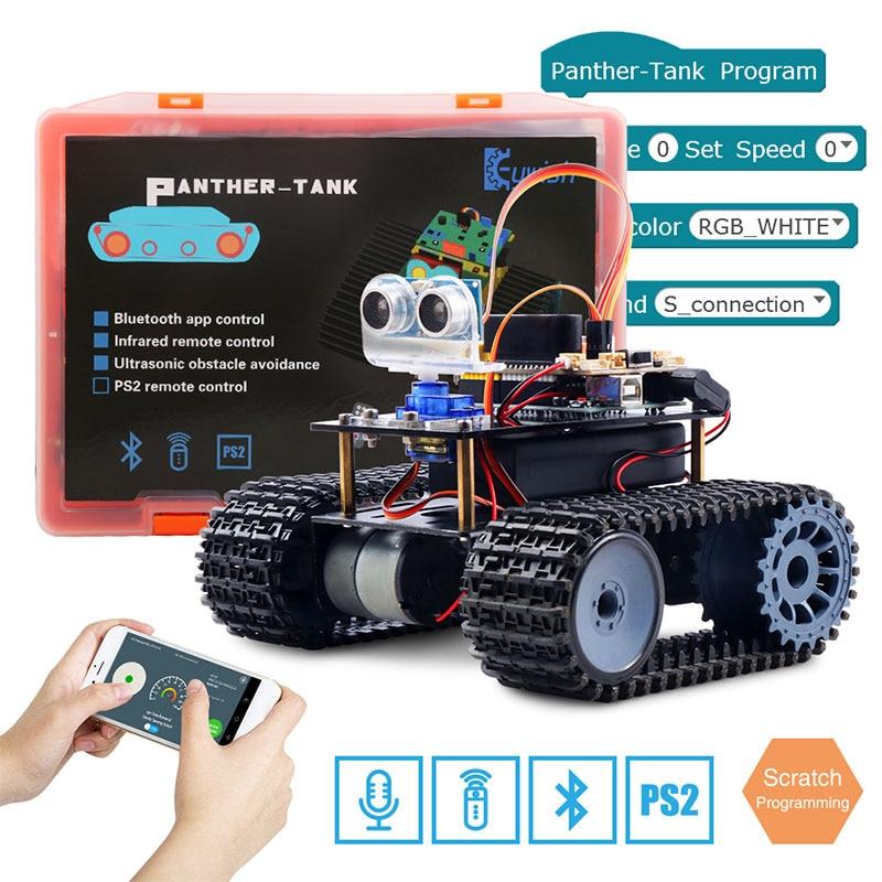 Keywish Tank Robot for Arduino UNO R3 Smart Cars Kit APP RC Remote Control Ultrasonic Bluetooth Modu