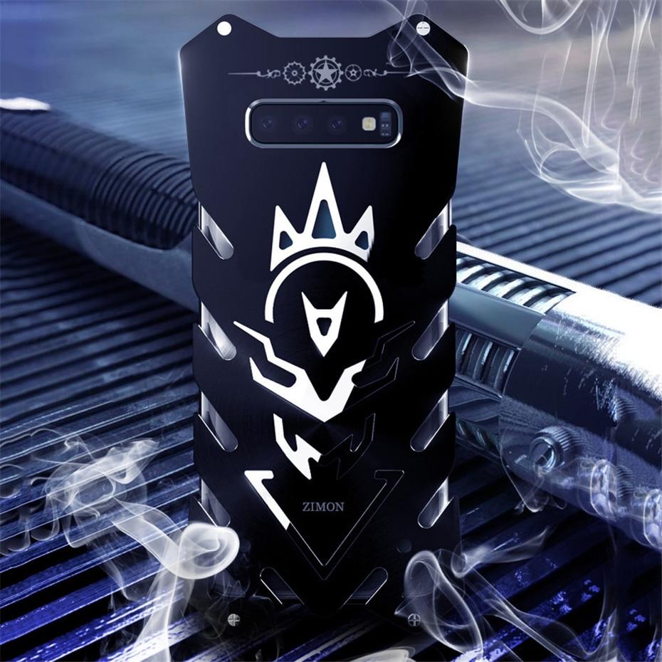 Zimon para Samsung S10 S10 + S10e armadura caso de lujo de la aviación de Metal de aluminio Carcasa protectora Capa para Samsung Galaxy S10 caso iPhone