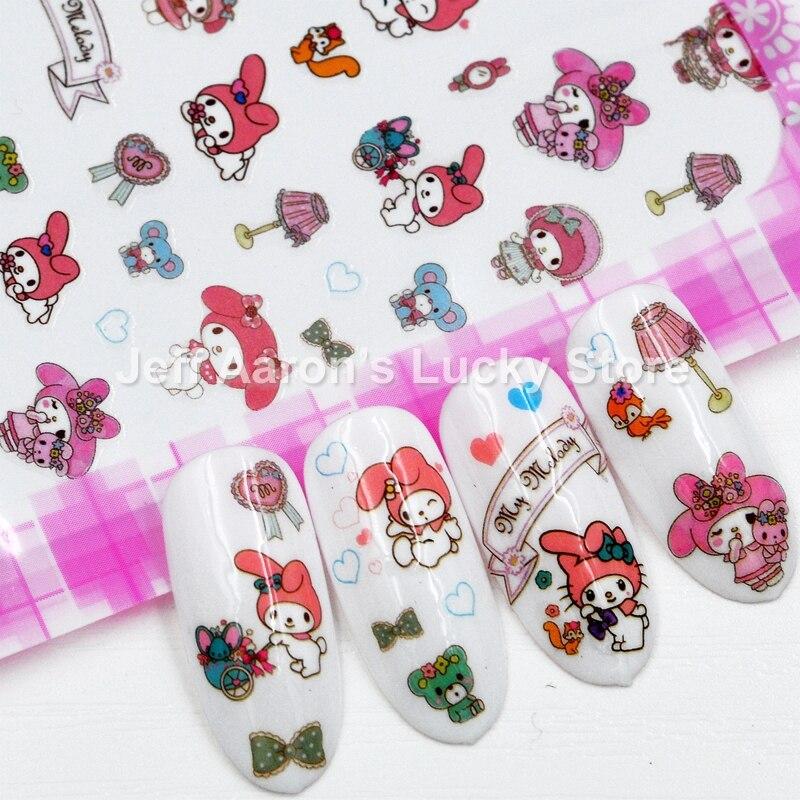 Самоклеющаяся наклейка для ногтей с персонажем мультфильма, наклейки для дизайна ногтей, наклейки для маникюра, принадлежности для ногтей