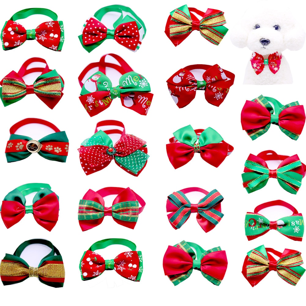 dhl-wholease-500pcs-cats-dog-christmas-bow-tie-dogs-bowtie-neckties-collar-accessories-holiday-decoration-grooming-pet-supplies
