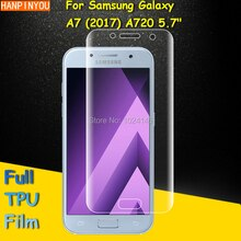 Full Coverage Clear Soft TPU Film Screen Protector For Samsung Galaxy A7 2017 A720 5.7