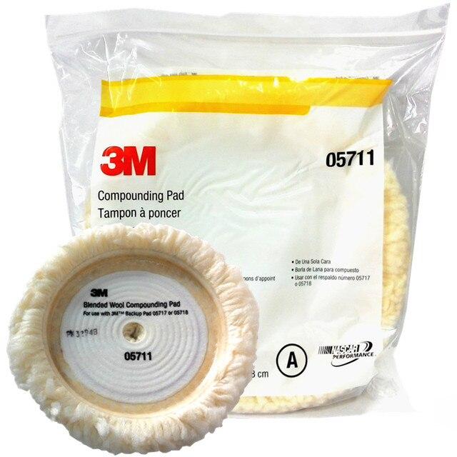 Оригинальный набор для полировки шерсти автомобиля 3M 05711 22,8 см, губка для мытья автомобиля, прокладка для очистки детейлинга, фетровая насадка, автомобильная полировка