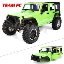 KIT disponible 313mm 12.3 pouces empattement corps voiture coque Cage pour 1/10 RC chenille voiture SCX10 SCX10 II TRX4 90046 90047 Jeep Wrangler