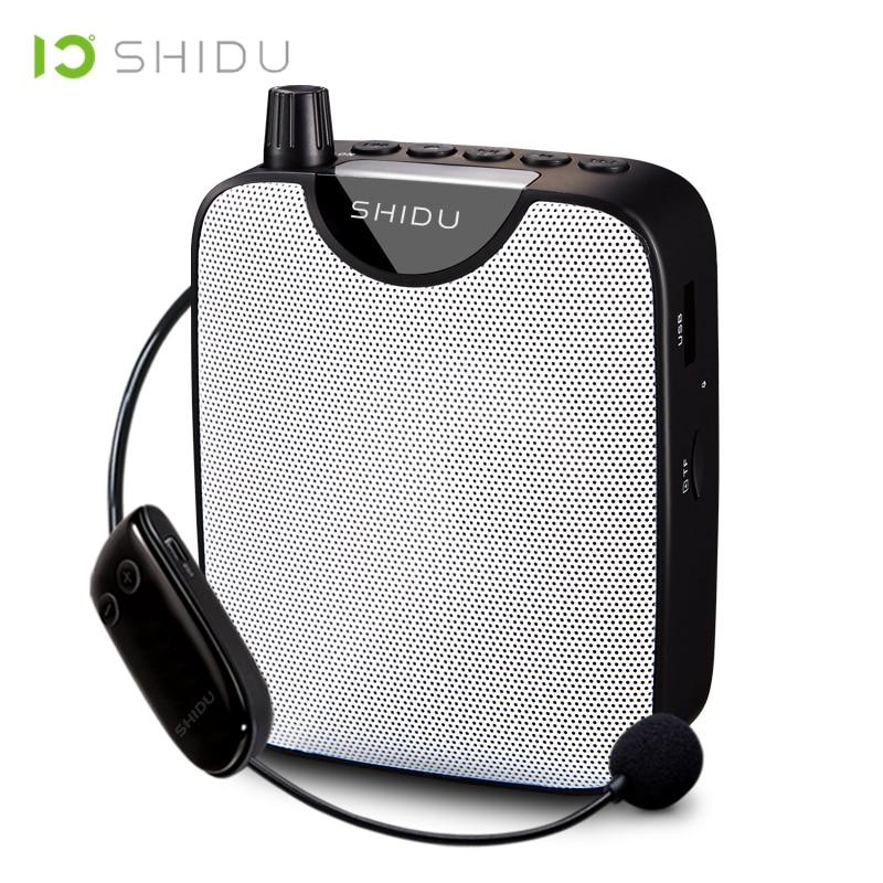 Shidu uhf mini amplificador de voz portátil sem fio fm estéreo rádio alta fidelidade aux alto-falante áudio para professores fala yoga instrutor m500