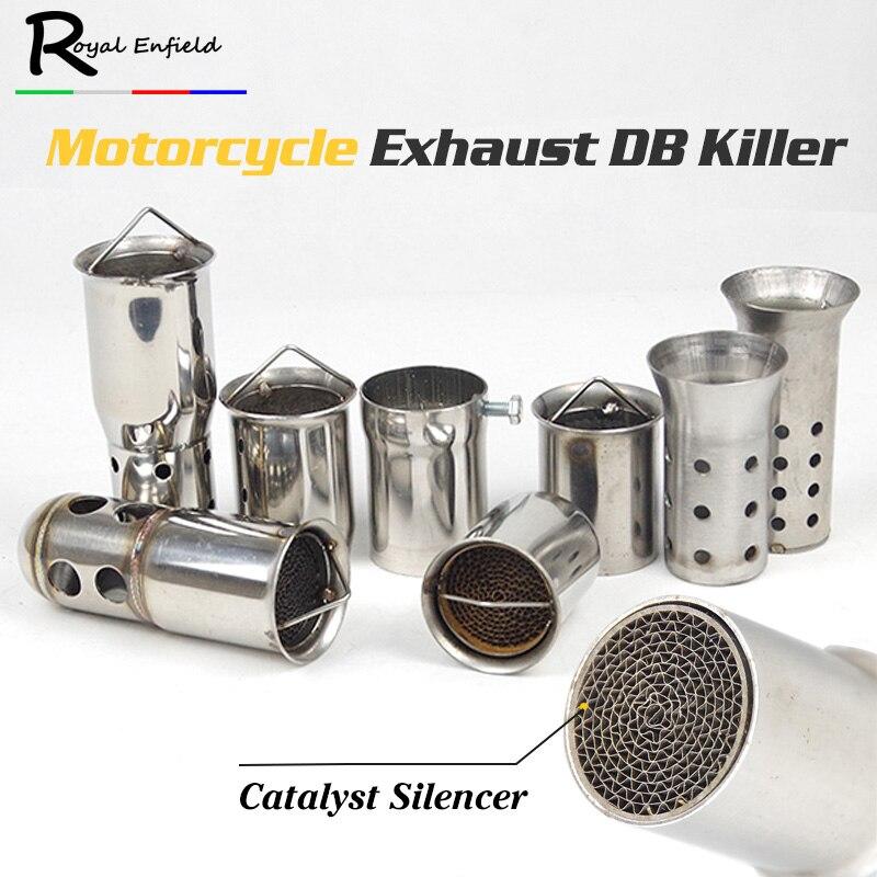 Deflector asesino DB catalizador Frontal Medio Universal de 51mm para silenciador de escape de coche de motocicleta silenciador deflector eliminador de sonido