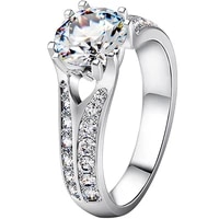 test as diamond solid 18k white gold 1 5ct hearts and arrows engagement ring moissanite diamond ring for women quality brand