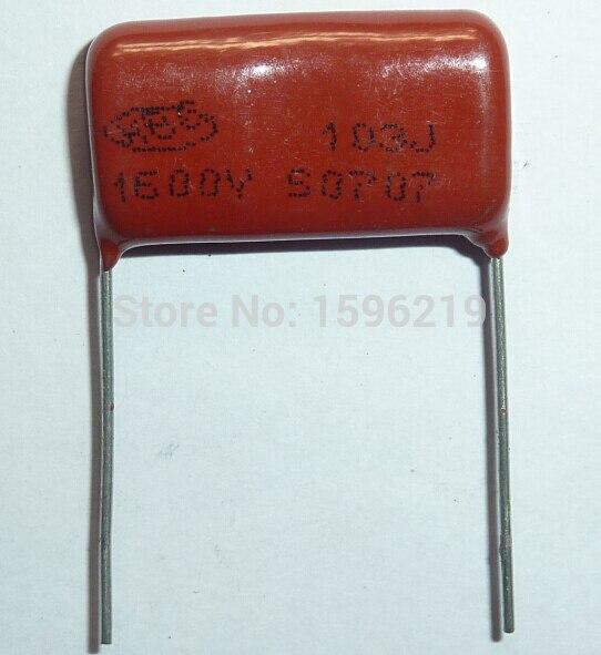 50pcs 103J 1.6KV 0.01uF CBB capacitor 103 1600V 10nF P24 CBB81 Metalizado Filme de Polipropileno Capacitor