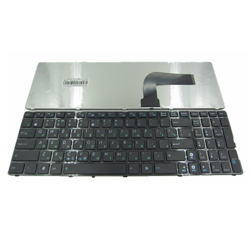 RU Siyah IÇIN Yeni Rus Laptop Klavye ASUS N71Ja N53 N53T X55VD UL50 P53 k53s K52 X61 N61 G60 G51 g53 UL50 P53