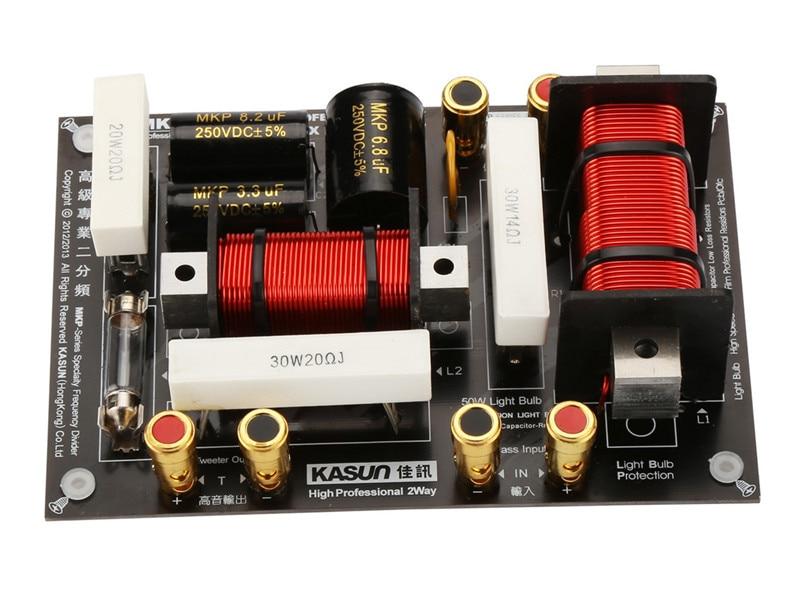 2 way 2 Unit professional Speaker Frequency Divider/Crossover Filter 3200HZ for Tweeter-MidRange Woofer made by kasun MKP-2988C